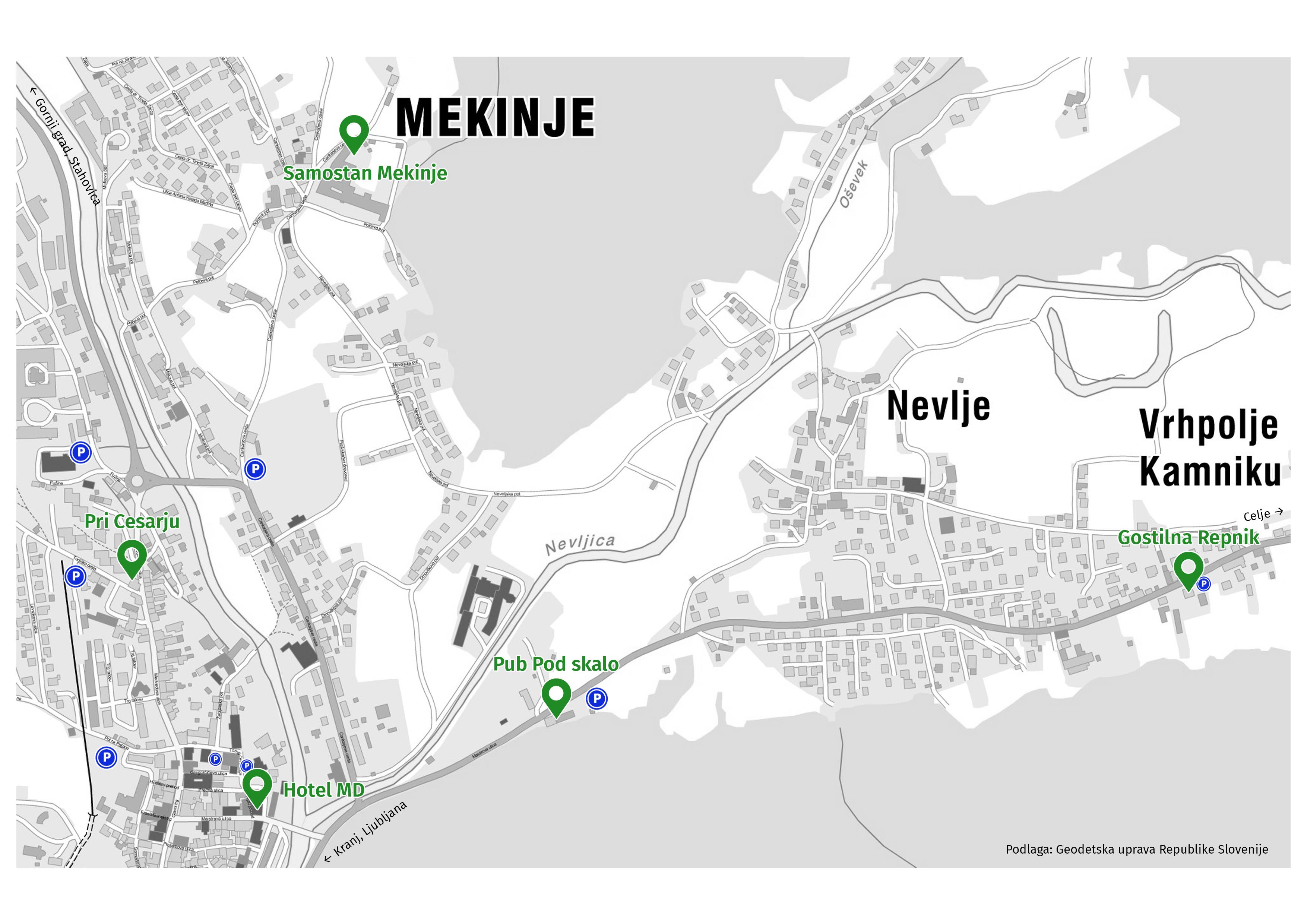A helyszín térképe